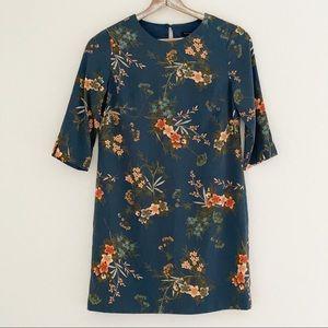 Banana Republic Navy Floral Dress Size 4